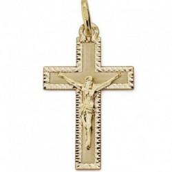 Cruz de oro 18k con cristo 27X16