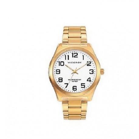 Reloj Viceroy hombre 40513-94 acero, dorado, reloj  analogico