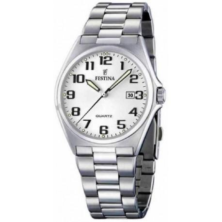 Reloj Festina hombre F16374/9 acero, reloj analogico