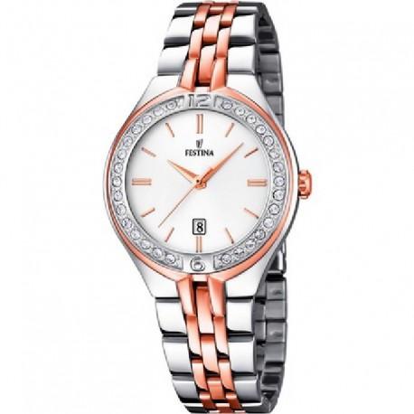 Reloj Festina mujer F16868/2 acero, analogico, bicolor