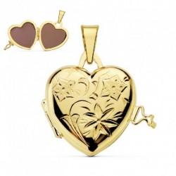 Guardapelos de oro 18k corazon
