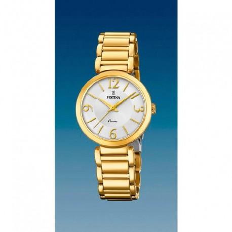 Reloj Festina mujer F20214/1  acero, dorado, analogico