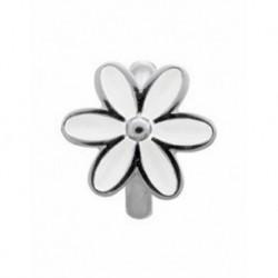 Abalorios Endless plata 41155-1 flor blanca esmalte