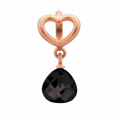 Abalorios Endless plata 63302-2  black heart grip drop