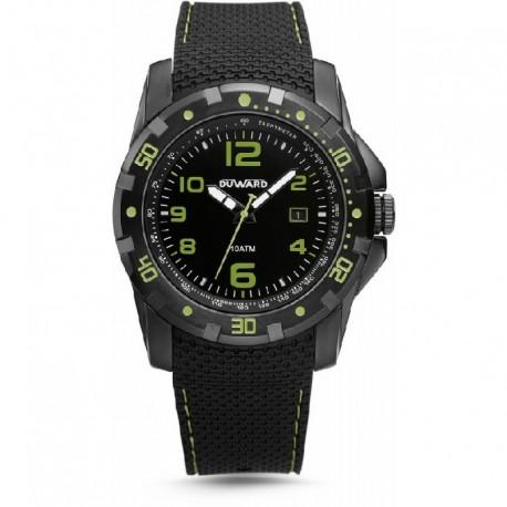 Reloj  Duward D85401.53 acero, IP negro