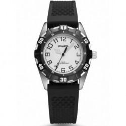 Reloj Duward D13085.11 acero y caucho, cadete, reloj analogico