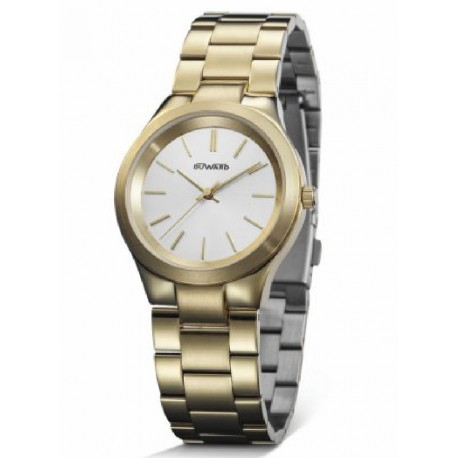 Reloj  Duward D25300.10 acero, mujer IP dorado, reloj analogico