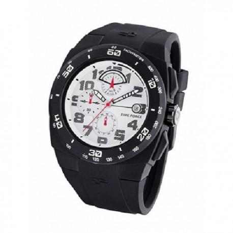 Reloj Time Force TF4193M02,  caucho reloj analogico cronometro