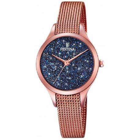 Reloj Festina mujer F20338/3 acero, azul, analogico