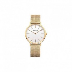 Reloj Bering mujer 14134-331 dorado, reloj analogico con malla milanesa