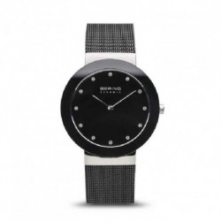 Reloj Bering mujer 11435-102 acero color negro, analogico