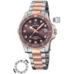 Reloj Jaguar mujer J871/2 acero bicolor, reloj analogico