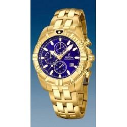 Reloj Festina hombre F20356/3 acero, dorado, reloj analogico con cronometro