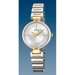 Reloj Festina mujer F20320/1 acero bicolor, reloj analogico