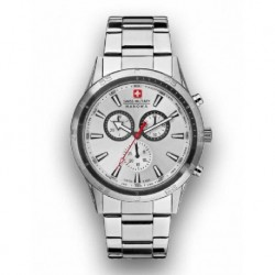 Reloj Swiss Military hombre 6804104001 acero, reloj analogico