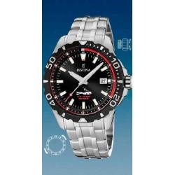 Reloj Festina hombre F20461/2 acero, reloj analogico, esfera negra