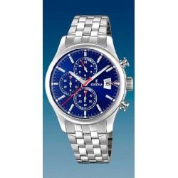 Reloj Festina mujer F20374/2 acero, reloj analogico cronografo, esfera azul