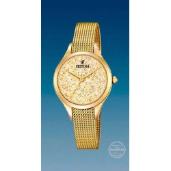 Reloj Festina mujer F20337/2, dorado, reloj analogico, esfera champan