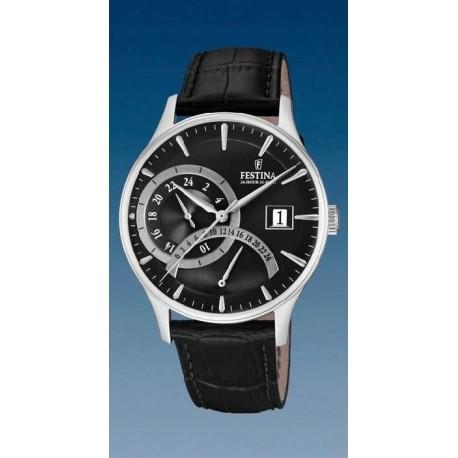 Reloj Festina hombre F16983/4 acero, reloj analogico dual-time, esf negra