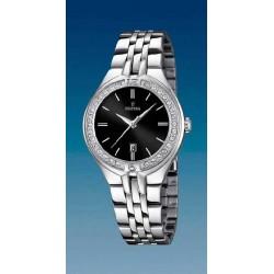 Reloj Festina mujer F16867/2 acero, reloj analogico esfera negra