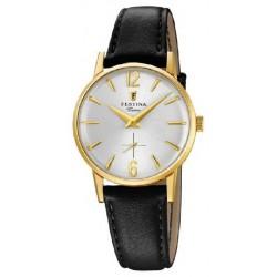 Reloj Festina mujer F20255/1, caja de acero, correa piel reloj analogico