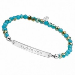 LOTUS SILVER PULSERA SRA.TURQ.I-LOVE-YOU