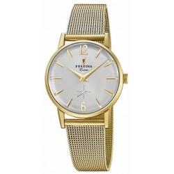 Reloj Festina mujer F20259/1 acero, dorado, reloj analogico