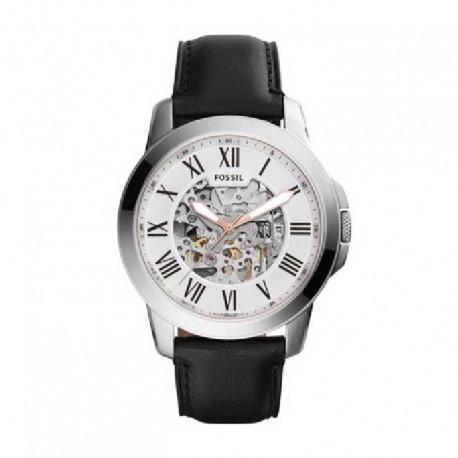 Reloj Fossil automatico ME3101 grant, reloj de acero, correa piel