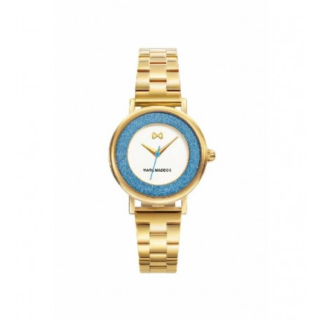 Reloj Mark Maddox MM7107-00 ip dorado, reloj analogico