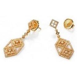 Pendientes Viceroy Jewels 8015E100-30 plata chapados y circonitas