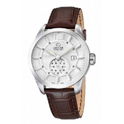 Reloj Jaguar hombre J663/1 acero, analogico, correa piel, cristal zafiro