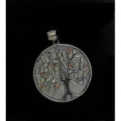 Colgante plata arbol nacar y circ.2,3cms