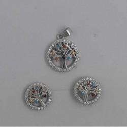 Conjunto de plata arbol multipiedra