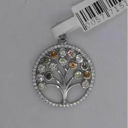 Colgante plata arbol 2 cms