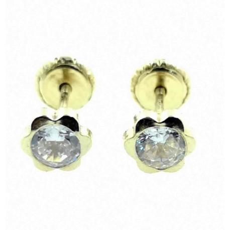 pendientes-de-oro-flor-5-mm-rosca-circonita