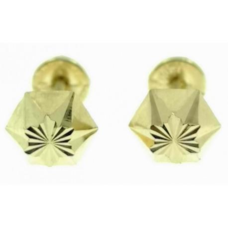 Pendientes de oro labrados pequeños