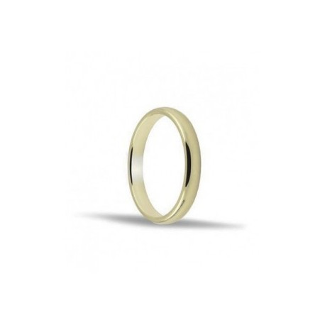 Alianza de oro amarillo 2.5 mm 18ktes