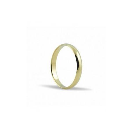 Alianza de oro amarillo 3 mm M-L3