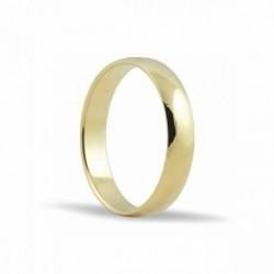 Alianza de oro amarillo 18KTES 4 mm