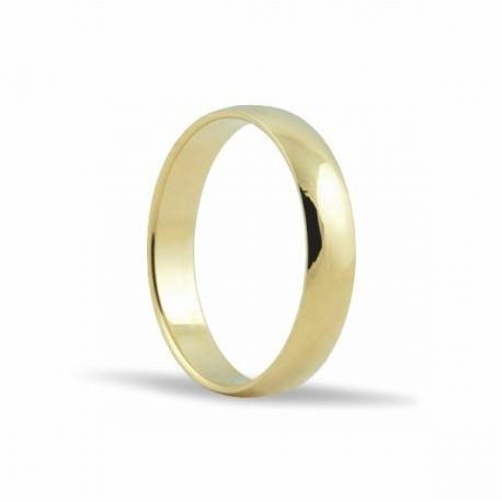 Alianza de oro amarillo 18KTES 4 mm M-L4