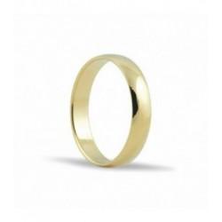 Alianza de oro amarillo 18ktes 5mm