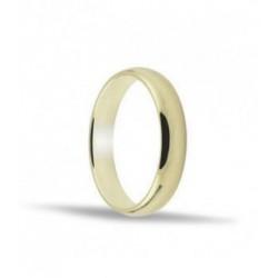 Alianza de oro amarillo 18ktes. 5 mm