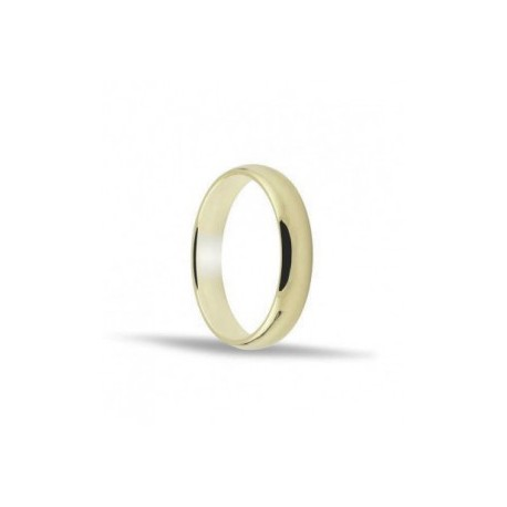 Alianza de oro amarillo 18 ktes. 4mm