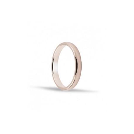 Alianza de oro rosa 18 ktes 3mm