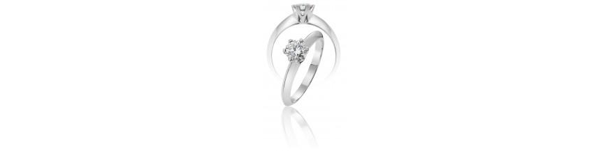 anillos de oro con diamantes perfectos anillos de compromiso